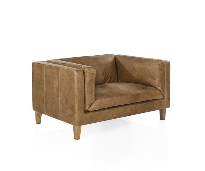 "Estancia Leather Co 'The Vittoria Chair', $2695, from [Coco Republic](https://www.cocorepublic.com.au/catalog/product/view/id/8944/s/the-vittoria-chair-8944/|target=""_blank""