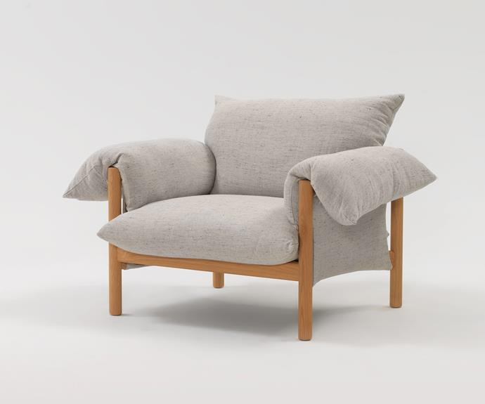 "'Wilfred' armchair, $4871, from [Jardan](https://www.jardan.com.au/product/wilfred-armchair/|target=""_blank""