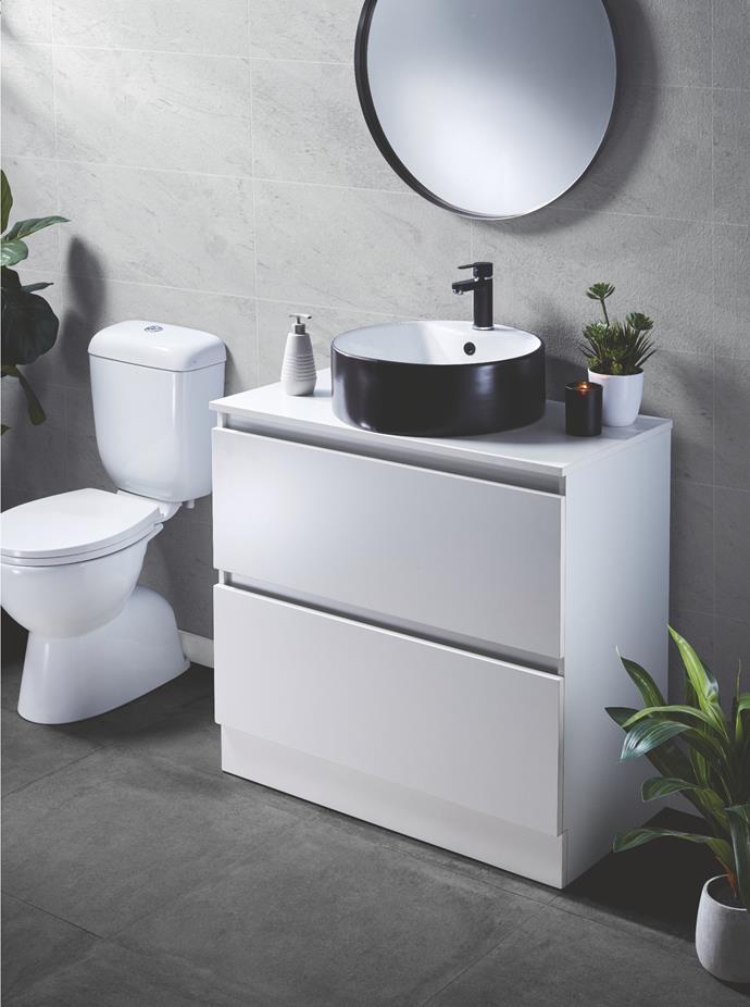 Freestanding Vanity in White, $299.