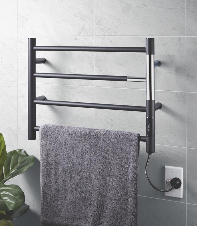 4 Bar Heated Towel Rail, $99.99.