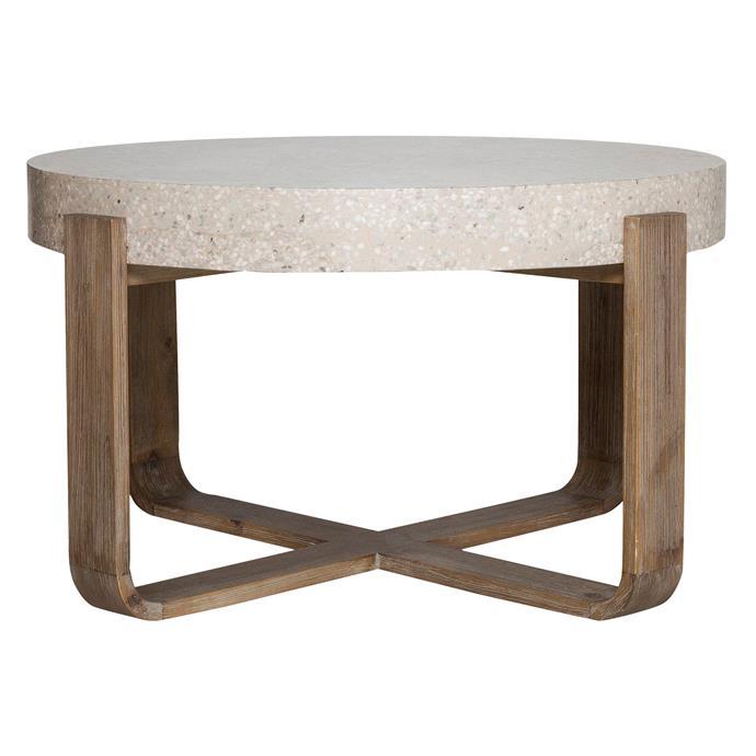 "Bodhi coffee table in Stone, $499, [Freedom](https://www.freedom.com.au/|target=""_blank""|rel=""nofollow"")"