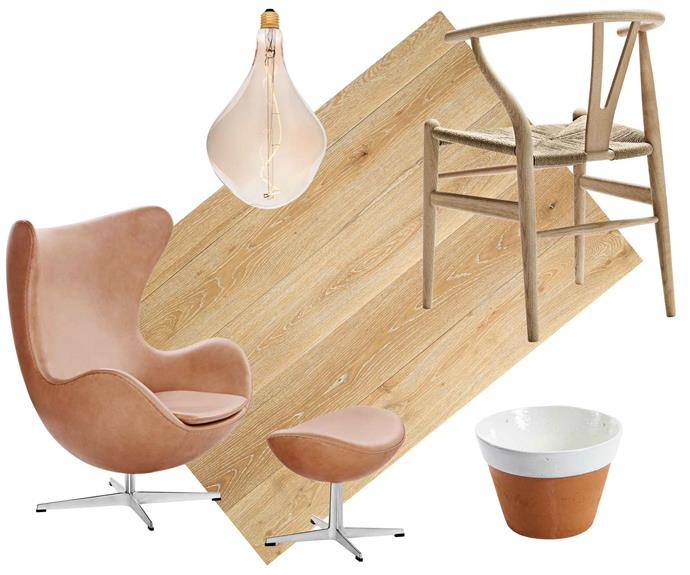 "**Nordic lights** Blond wood, tan and terracotta bring light and life to soothing grey and white schemes. **Get the look** (clockwise from left) Tala 'Voronoi' dimmable pendant light, $201, [Finnish Design Shop](https://www.finnishdesignshop.com/|target=""_blank""