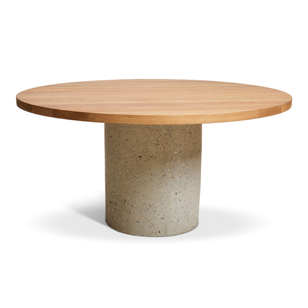 """Round Concrete Cylinder Dining Table, $5299, [Harpers Project](https://www.harpersproject.com/collections/all/products/concrete-cylinder-dining-table