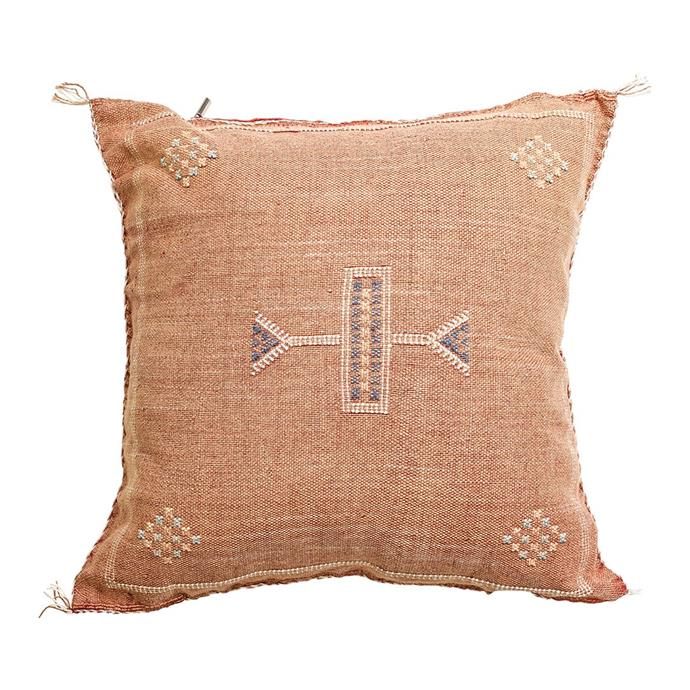 """Sabra Cushion in Terracotta, $145, [Barefoot Gypsy](https://barefootgypsy.com.au/collections/cushions/products/terracotta-sabra-cushion