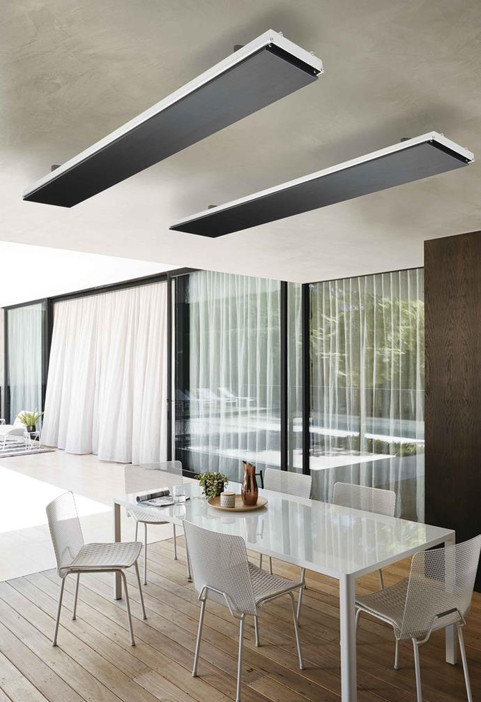 "**Heating bar none**  Thermastrip 3200W heat strips (177cm), $799 each from [Beacon Lighting](https://www.beaconlighting.com.au/|target=""_blank""