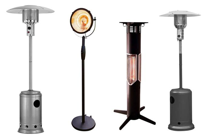 "**From left** Gasmate steel gas outdoor heater (206cm), $299, [Outdoors Domain](https://www.outdoorsdomain.com.au/|target=""_blank""