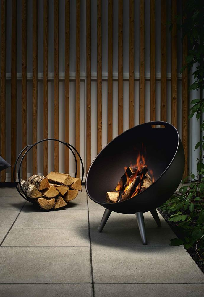 "**Global appeal** With a half-sphere shape that protects the fire from wind, the Eva Solo 'FireGlobe' steel fireplace (64cm), $799 from [Top3 By Design](https://top3.com.au/|target=""_blank""