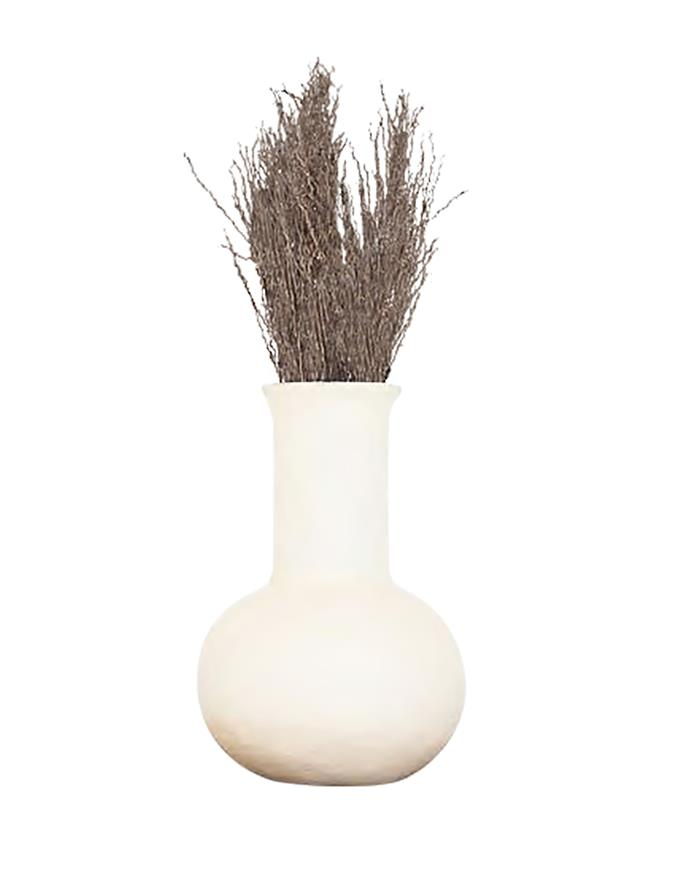 """Flora vessel in cream, $89, [McMullin & Co.](https://www.mcmullinandco.com/