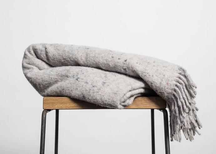 "'Original' recycled wool blanket with fringe, $299, [Seljak](https://www.seljakbrand.com.au/|target=""_blank""|rel=""nofollow"")"