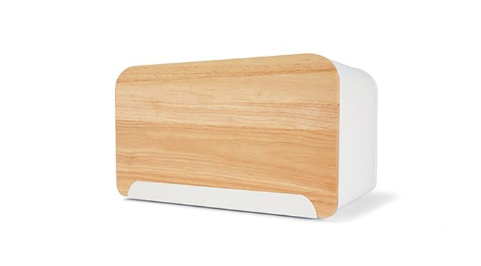 "Bread Bin with Cutting Board, $15, at [Kmart](https://www.kmart.com.au/product/bread-bin-with-cutting-board/2110309|target=""_blank""|rel=""nofollow"")"
