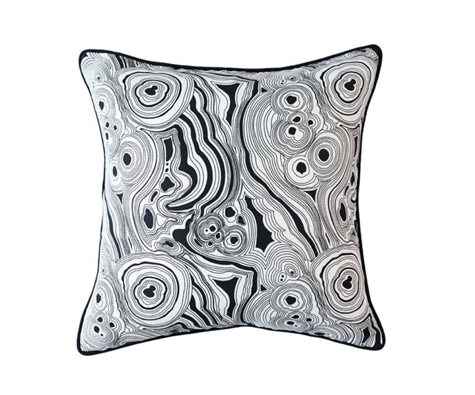 "Malachite linen cushion, $60, [Greg Natale](https://www.gregnatale.com/|target=""_blank""|rel=""nofollow"")."