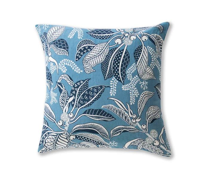 "Fig Blue linen/cotton cushion cover, $95, [Utopia Goods](https://utopiagoods.com/|target=""_blank""