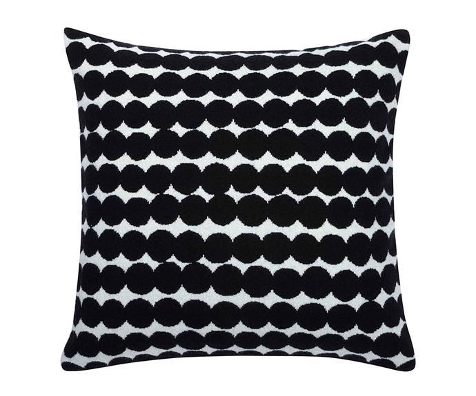 "Resymatto cotton cushion cover, $49.50, [Marimekko](https://www.marimekko.com/au_en/|target=""_blank""|rel=""nofollow"")."