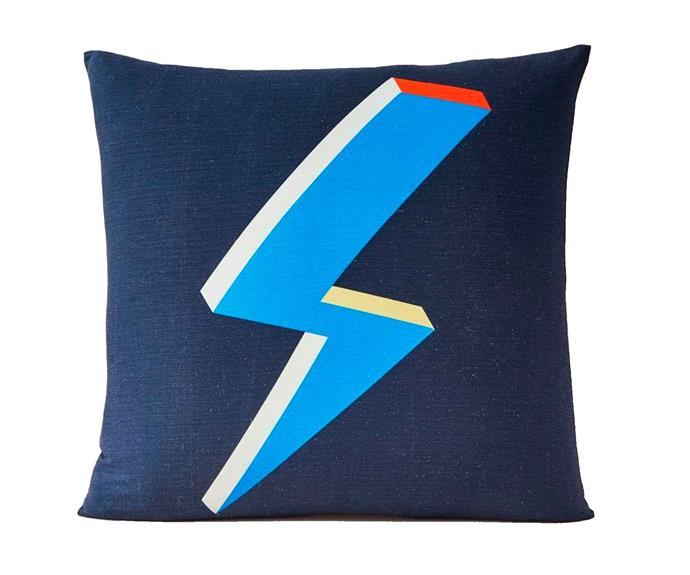 "Lightning bolt silk cushion cover, $49, [West Elm](http://www.westelm.com.au/|target=""_blank""