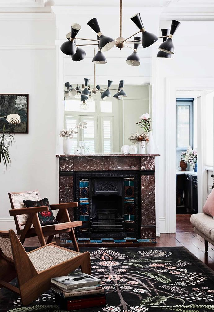 "Designer Silvana Azzi Heras collaborated with Designer Rugs to create a collection of Australiana-inspired rugs, as featured here in her [Italianate home](https://www.homestolove.com.au/italianate-victorian-home-19959|target=""_blank"")."