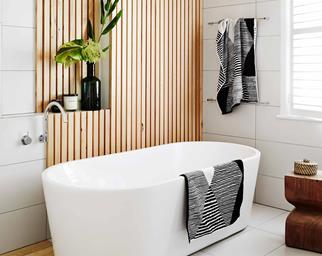 Neutral-coloured bathroom