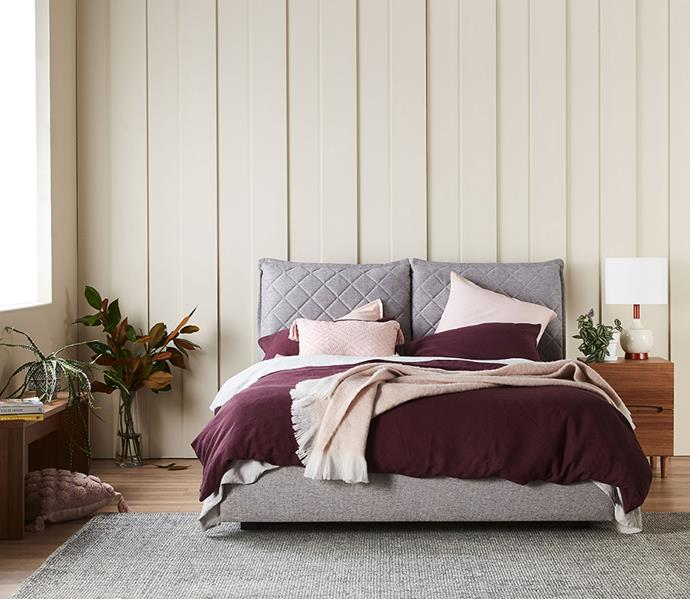 "**QUILT:** There's nothing more luxurious than beautiful-looking bed sheets that are soft and silky to the touch, but what about a quilt? Just as important as your bed sheets is your [quilt, which needs to be warm yet breathable](https://www.homestolove.com.au/how-to-care-for-and-store-quilts-10524|target=""_blank""