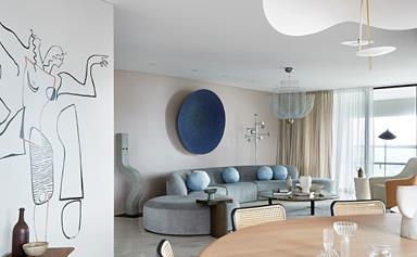 A luxurious apartment filled with art