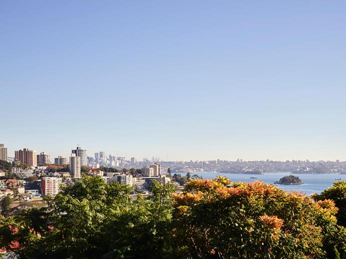 The home enjoys a magnificent outlook over Sydney Harbour.