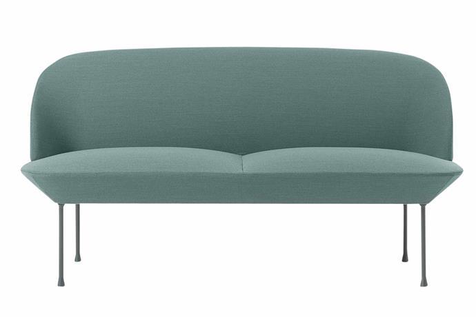 "**Two seater** Muuto 'Oslo' sofa, $4950, [Living Edge](https://livingedge.com.au/|target=""_blank""|rel=""nofollow"")"
