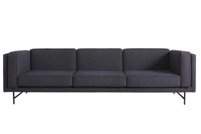 "**Three seater** 'Bank' sofa, $3299, [Blu Dot](https://www.bludot.com.au/|target=""_blank""|rel=""nofollow"")."