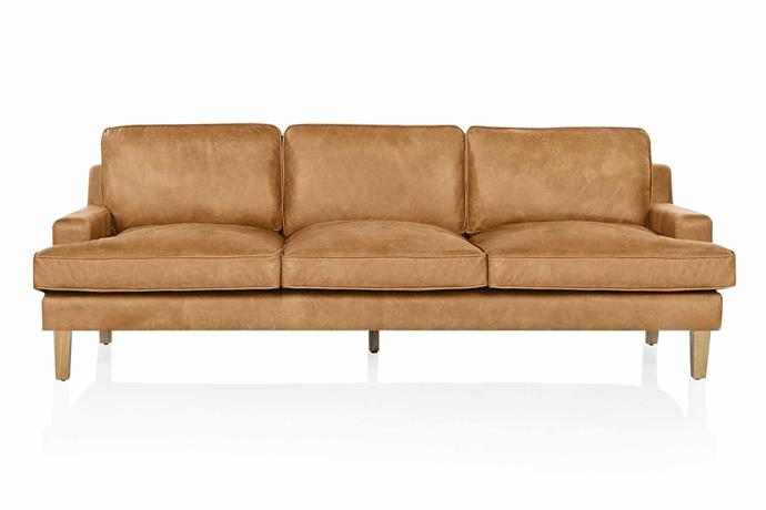 "**Three seater** Estancia Leather Co 'The Belfort' sofa, $3995, [Coco Republic](http://www.cocorepublic.com.au/|target=""_blank""