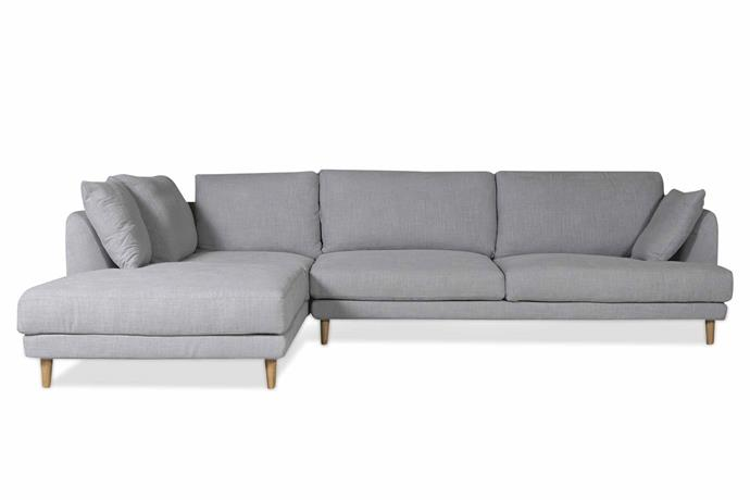 "**L-shaped** 'Molly' sofa, $3795, [Clickon Furniture](https://www.clickonfurniture.com.au/|target=""_blank""