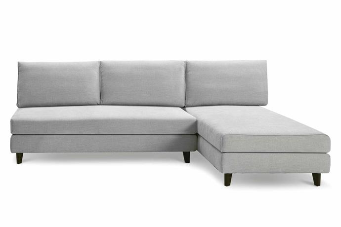 "**L-shaped** 'Delta III' sofa, from $5807, [King Living](https://www.kingliving.com.au/|target=""_blank""