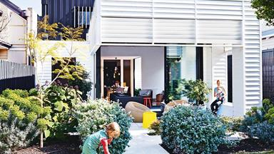 A weatherboard cottage in Sandringham was given a colourful revamp