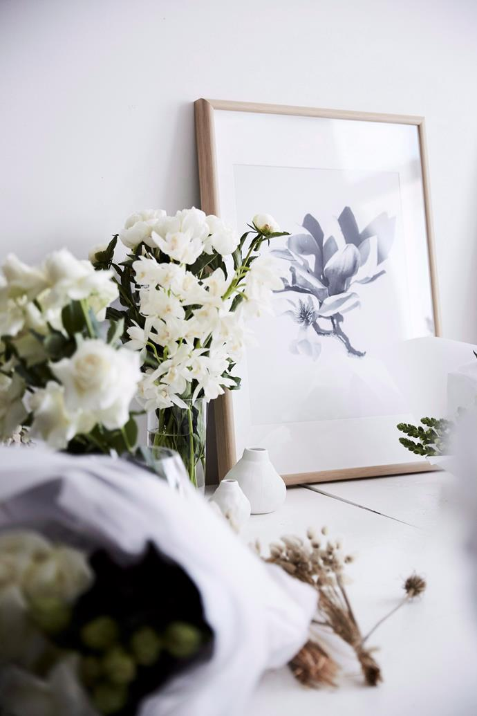 "**Bring nature to the fore** <br><br> Using [fresh flowers](https://www.homestolove.com.au/how-to-create-a-stunning-flower-arrangement-3901|target=""_blank""), potted plants, terrariums or vases of foliage around your home will instantly make you feel happy, calm and productive. There's no need to limit yourself to just living things – twigs, branches, shells or driftwood will conjure up outdoorsy vibes, while natural materials like stone, leather, wood and rattan are incredibly tactile and soothing."
