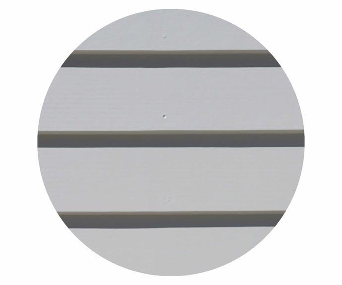 "Scyon 'Linea' cladding in Dulux Spanish Olive, [Scyon](https://www.scyon.com.au/|target=""_blank""|rel=""nofollow"")."