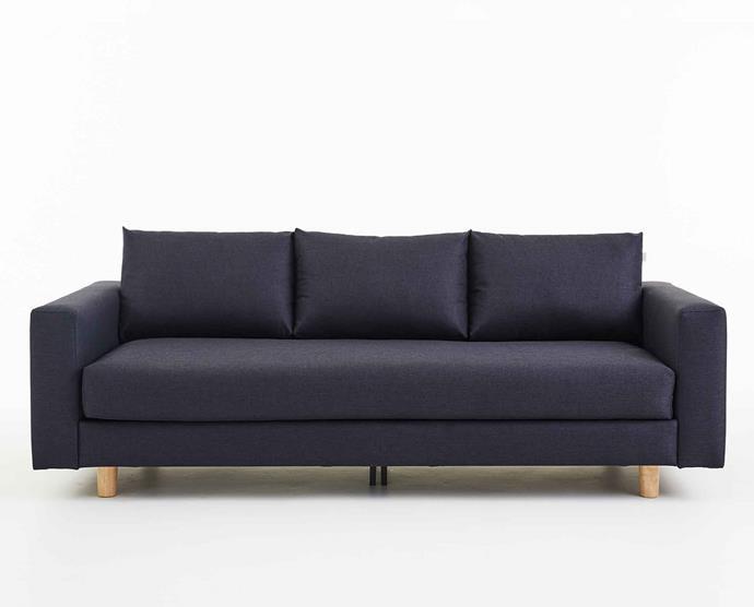 "The Original Koala **Sofa** in midnight blue, $1350 (for a 3-seater), from [Koala](https://au.koala.com/products/koala-sofa|target=""_blank""|rel=""nofollow"")."