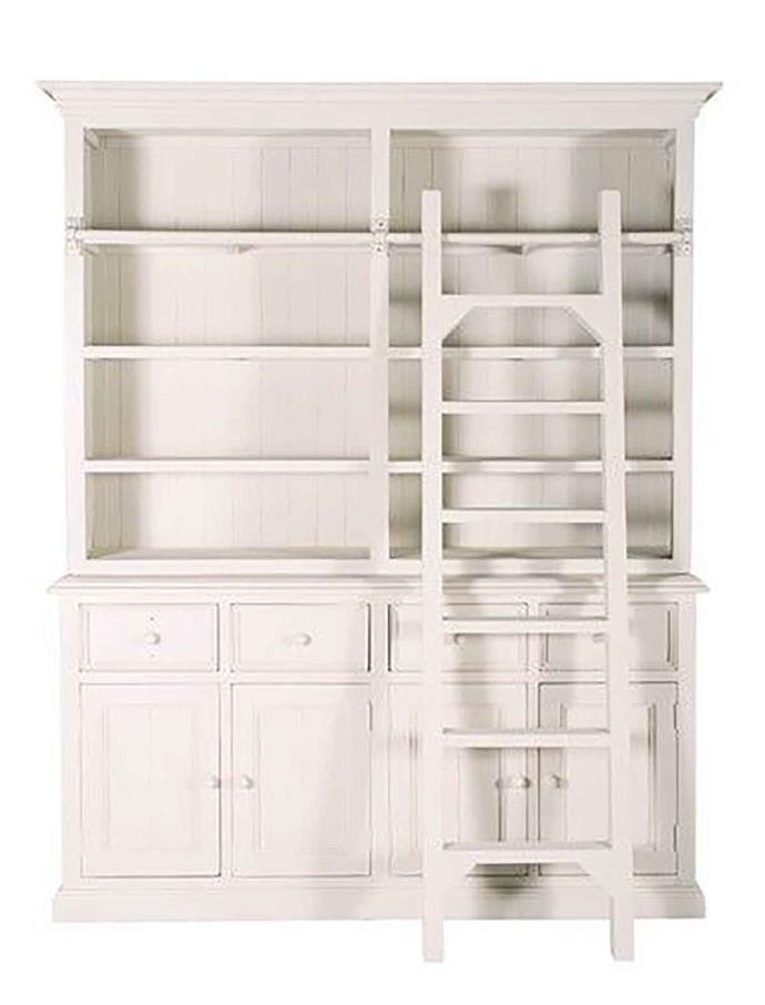 """'Macquarie' ladder bookcase in ivory, $1839, from [1825 Interiors](https://www.1825interiors.com.au/macquarie-ladder-bookcase