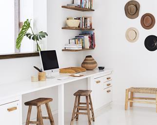 Minimalist home office.