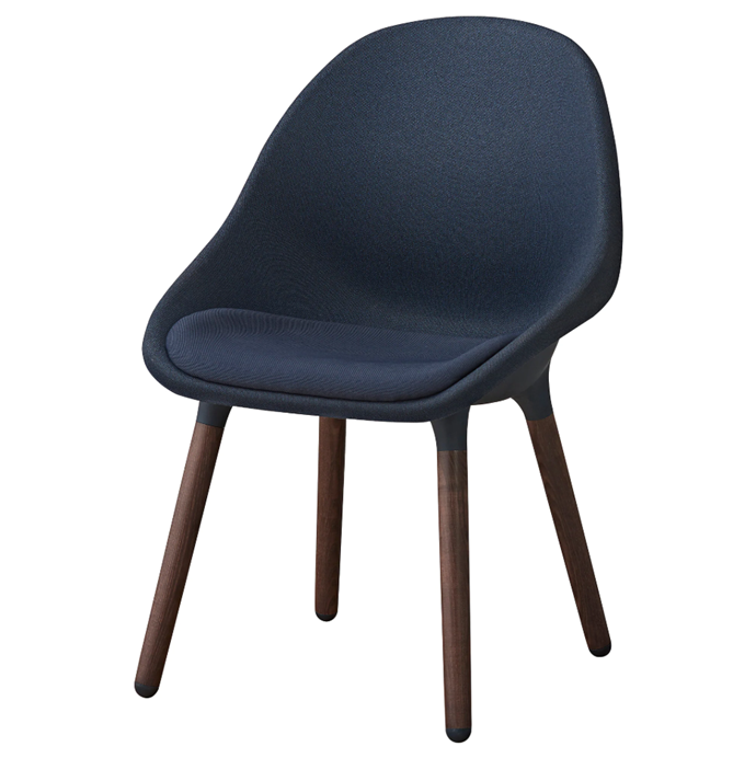 """'Baltsar' dining **chair** in black-blue, $219, from [IKEA](https://fave.co/2MqUHJG