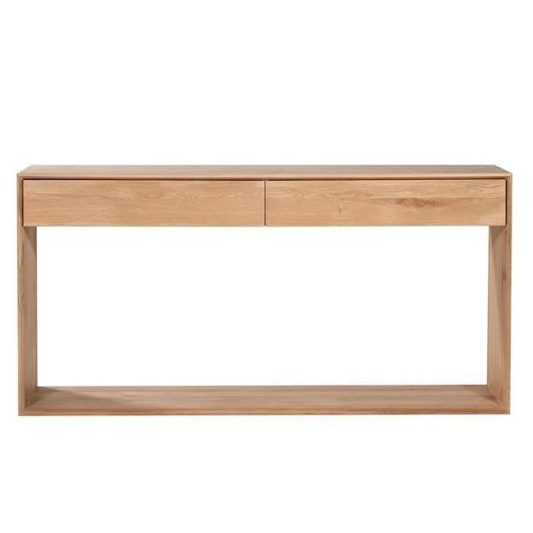 "Ethnicraft 'Nordic' 2-drawer console in oak, $1115, from [Curious Grace](https://curiousgrace.com.au/collections/scandinavian-furniture-melbourne/products/ethnicraft-nordic-console-with-2-drawers-solid-timber-furniture-1|target=""_blank""
