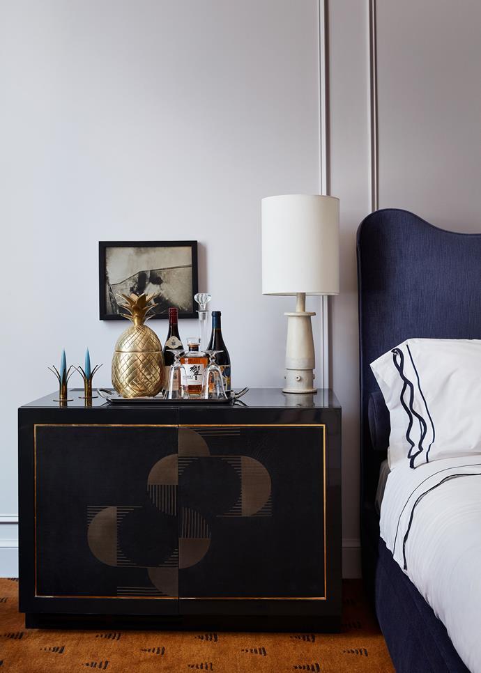 "Bedside style at [Maison de la Luz](https://maisondelaluz.com/|target=""_blank""|rel=""nofollow"") by Atelier Ace in New Orleans."