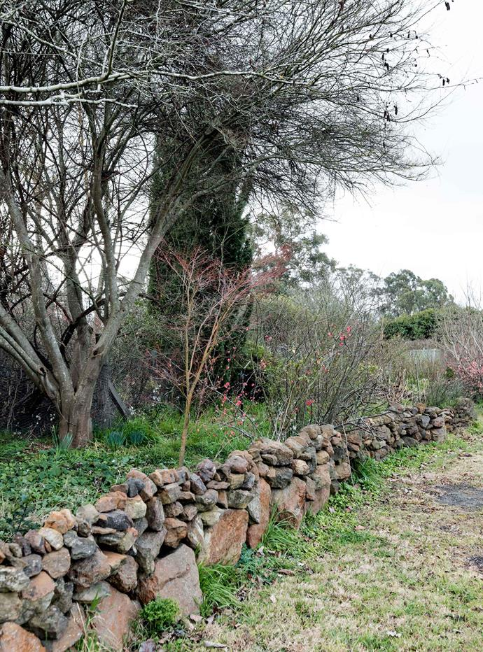 Stone from the property was used to build this drystone wall.