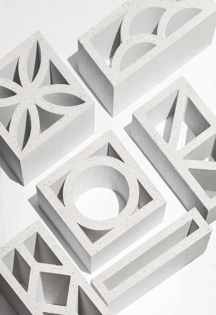 Breeze blocks can come in a wide range of sizes and unique cuts.