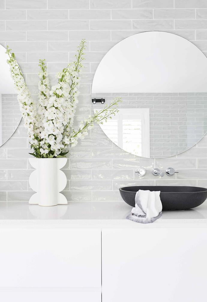 """**Ensuite** Bold black cement basins from [Slabshapers](https://slabshapers.com/