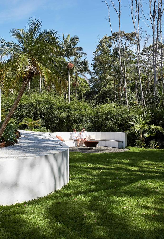 """**Built-in seat** A great spot for enjoying the garden and [Leisurescapes](https://leisurescapes.com.au/