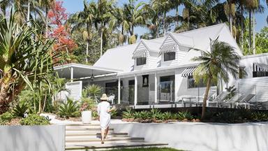 A 1983 beach home in Bangalow was given an all-white revamp