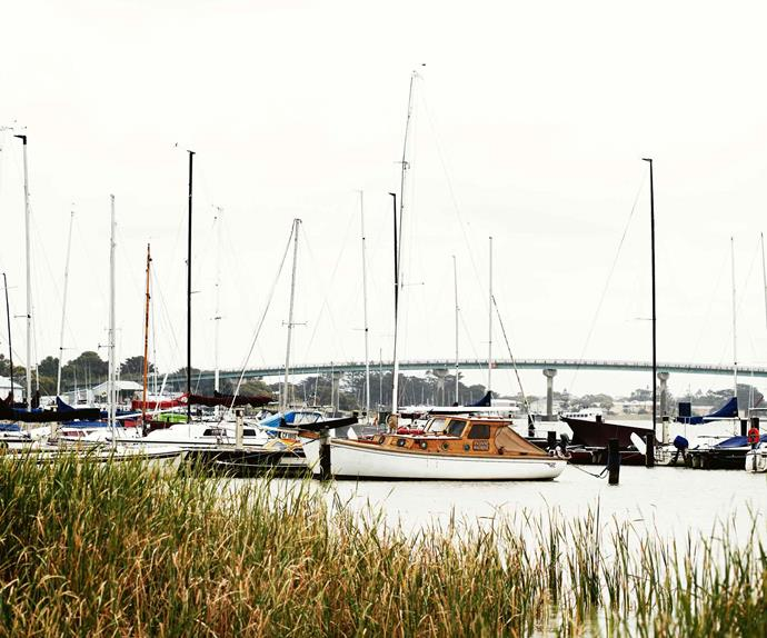 Boats in the harbour at Goolwa SA