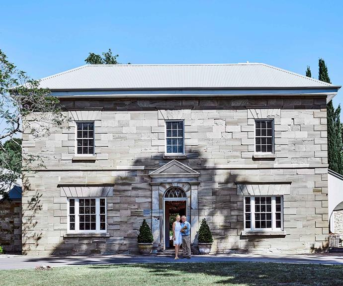 "The symmetrical facade of a Georgian home known as Werrington House. The [historic Western Sydney home](https://www.homestolove.com.au/restoration-of-a-historic-sydney-home-6524|target=""_blank"") was built during the 1830s."