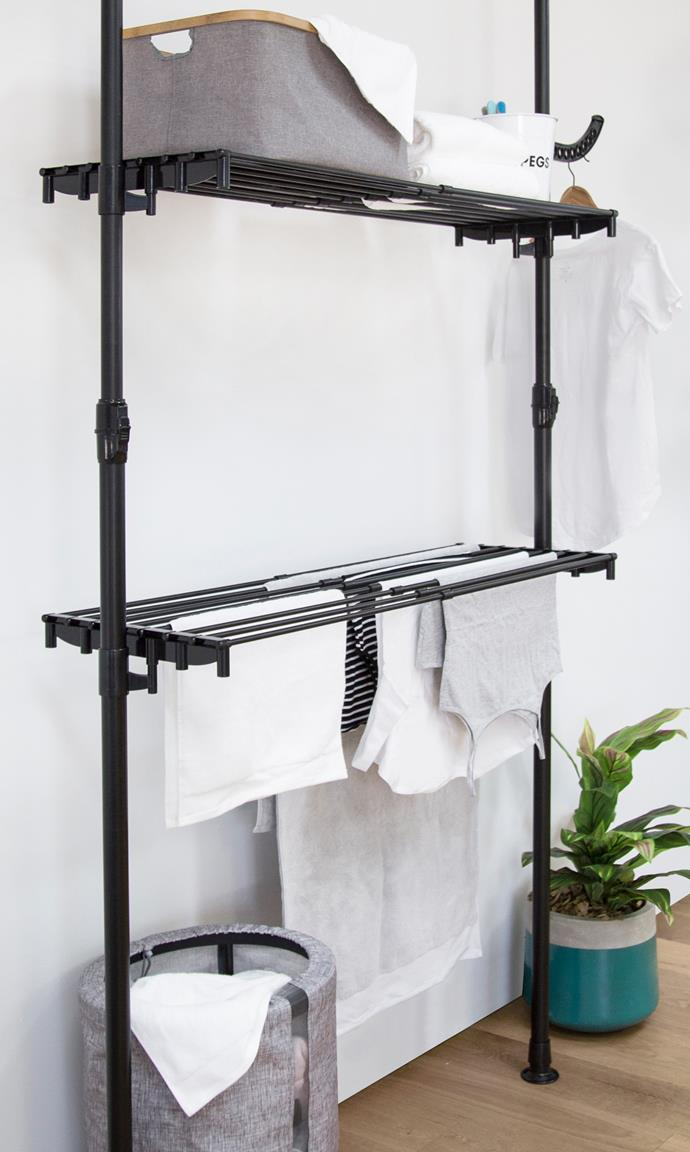 "[Hills' Premium Drying Centre](https://www.hillshome.com.au/our-product/premium-drying-centre/|target=""_blank"") is a drying system you won't want to hide away."