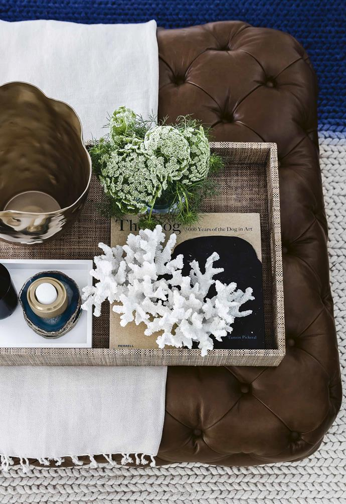 Beautifully curated vignettes add character and charm to the home.