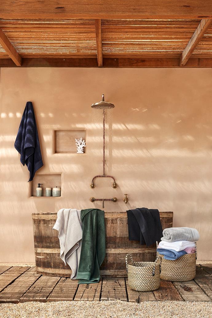Supima cotton bath towel range.
