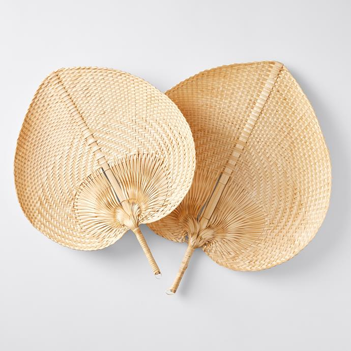 Bamboo Wall Fans, $25 (2 pack)