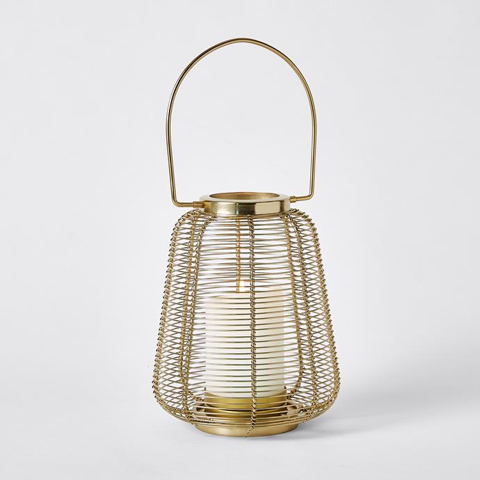 Gold Wire Lantern, $15