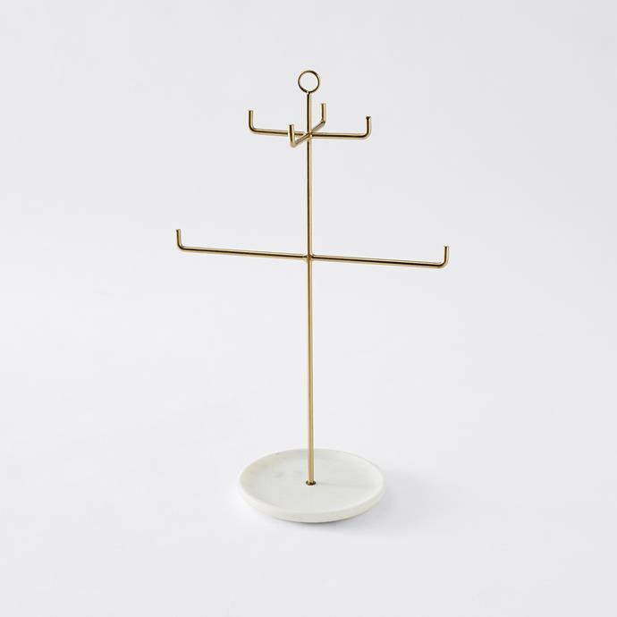 Jewellery Stand with Marble Base, $15
